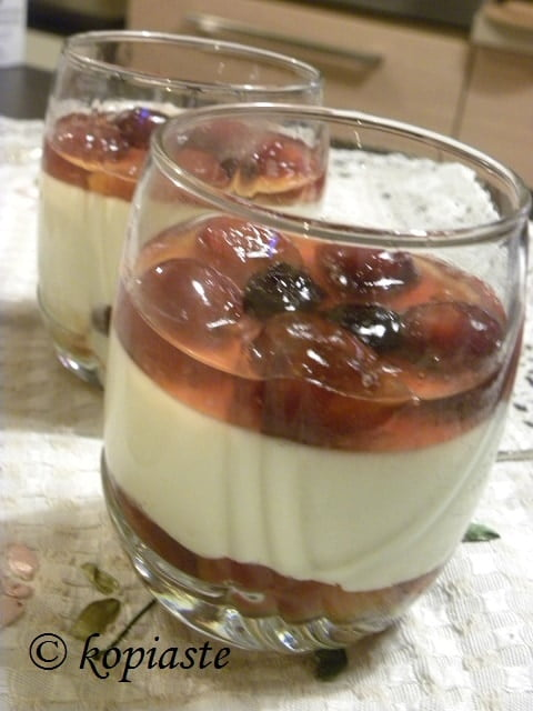 Panna Cotta with Cherry Jelly