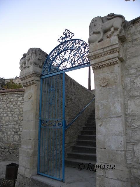 Lions, church Evaggelismos at Lophou