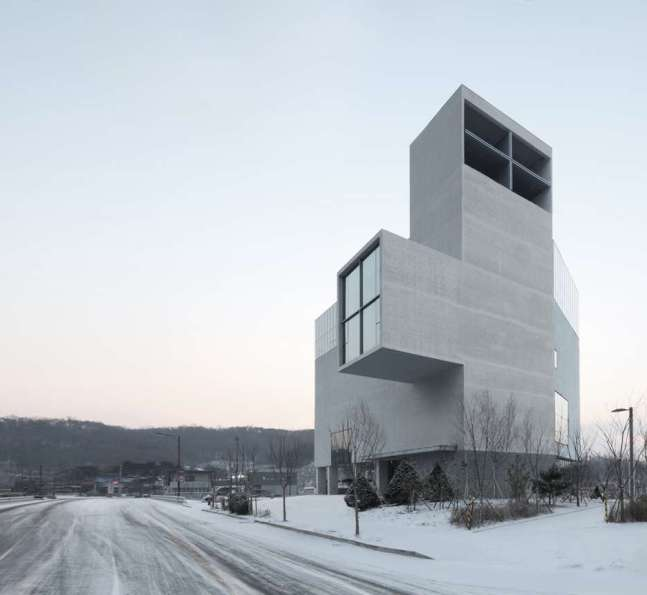 RW Concrete Church by Anonymous Architecture, Seoul, South Korea