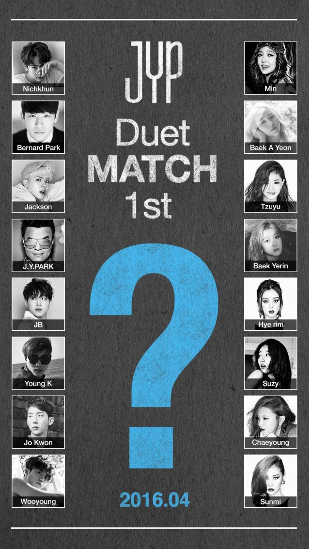 Image: JYP Entertainment Duet Fit teaser poster / JYP Entertainment