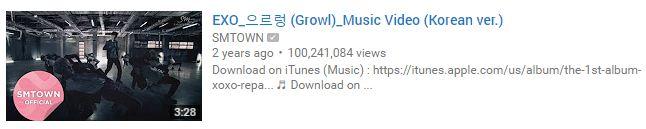 Image: EXO Growl MV / YouTube