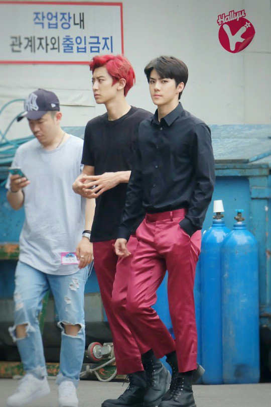 """Image: EXO's Chanyeol and Sehun for """"MONSTER"""" activities (2016)"""