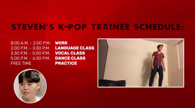 Image: Steven's K-Pop Trainee Schedule / BuzzFeedVideo
