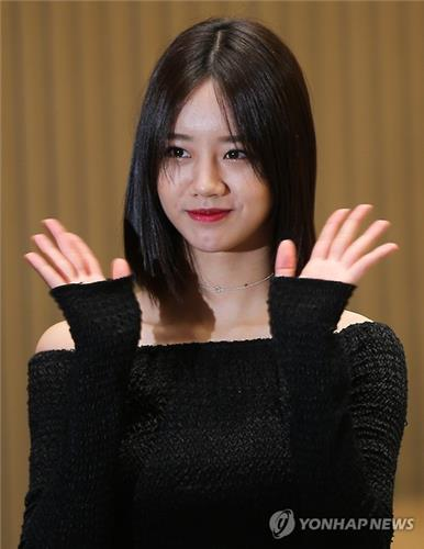 singer hyeri at the press conference promoting her upcoming sbs tv series entertainer on