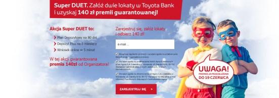 Lokata Super Duet Toyota Bank