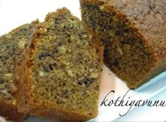 Banana Walnut Cake-Banana Bread Recipe