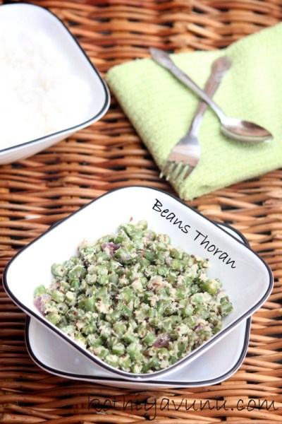 Beans Thoran – Beans Stir Fry – Beans Poriyal