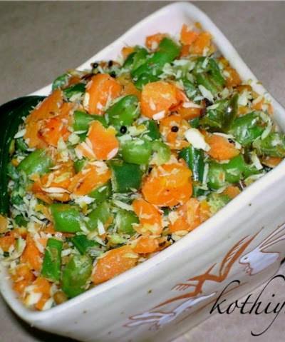Carrot Beans Thoran /Carrot Beans Stir Fry