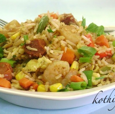Sausage Shrimp Fried Rice Recipe
