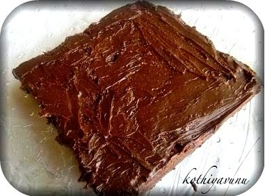 Brownies with Creamy Brownie Frosting