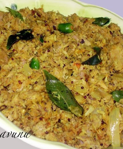 Choora Meen Thoran /Tuna Thoran /Tuna Stir Fried with Grated Coconut
