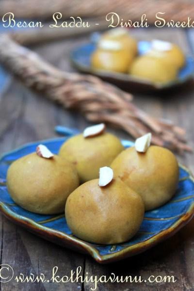 Besan Ladoo – Laddu Recipe – Besan Ke Laddoo Recipe |  – Diwali Sweets