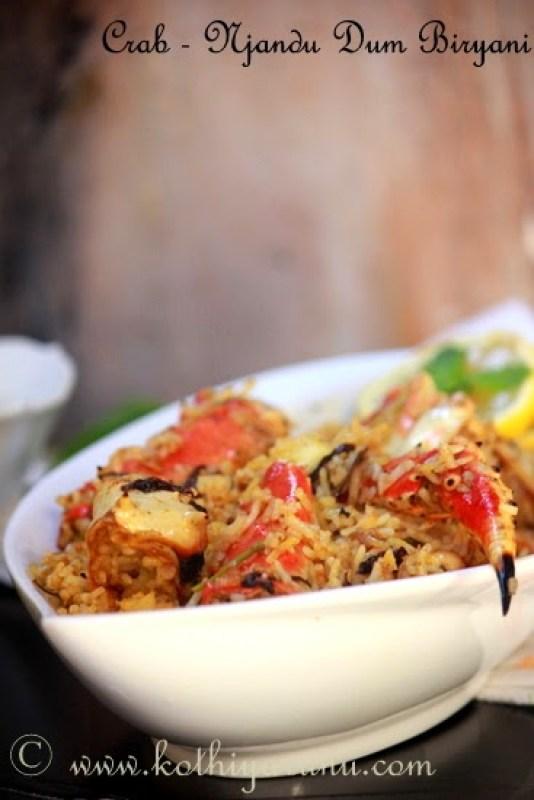 Crab Dum Biryani - Njandu Biryani Kerala Style |kothiyavunu.com