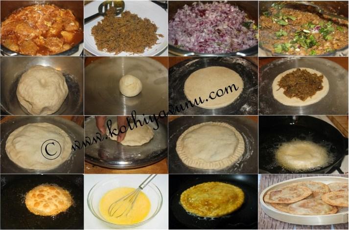 Erachi-Irachi Pathiri-Pathil -Meat Stuffed Fried Roti |kothiyavunu.com