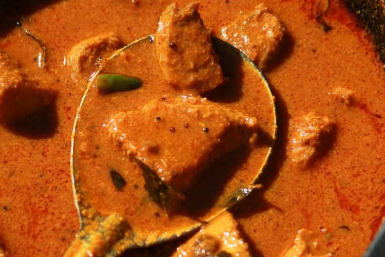 Kerala Style Tuna Curry-Nadan Choora Meen Curry