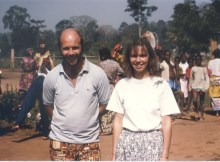 A rather younger Sue and Eddie: Ivory Coast December 1992
