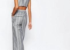 ASOS Stripe Jumpsuit in Natural Fabric2