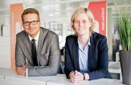 Teamleiter Sebastian Stengel und Bereichsleiterin Dr. Sarah Borgloh