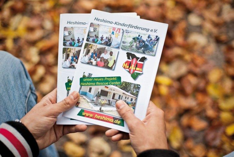 Heshima Kinderfördeung Broschüre