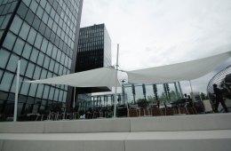 Medienhafen, Düsseldorf, Segel