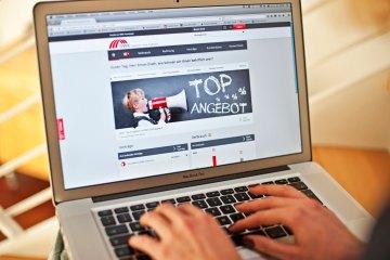 Laptop, SWK Online KundenCenter