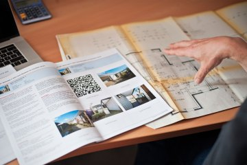Broschüre, Heft, Wohnung