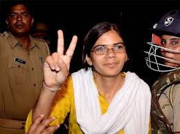 Richa Singh, after winning elections pic courtesy- Bhaskar