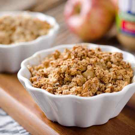 Healthy Peanut Butter Apples Crisp for Two