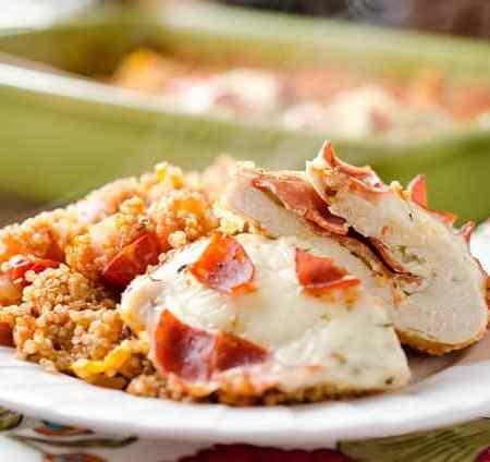 Pizza Stuffed Chicken Quinoa Bake - Krafted Koch