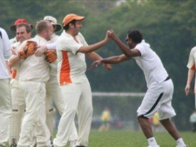 Sham ... celebrates in the Intra-Club match