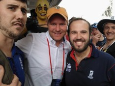 Photobombed ... Hoggy gets his hands on the famous KRCSC club cap