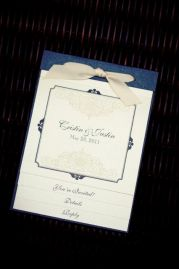 Vintage Lace Booklet Invitation
