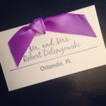 Escort Card with Ribbon
