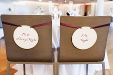 Mr. Right & Mrs. Always Right Chair Signs
