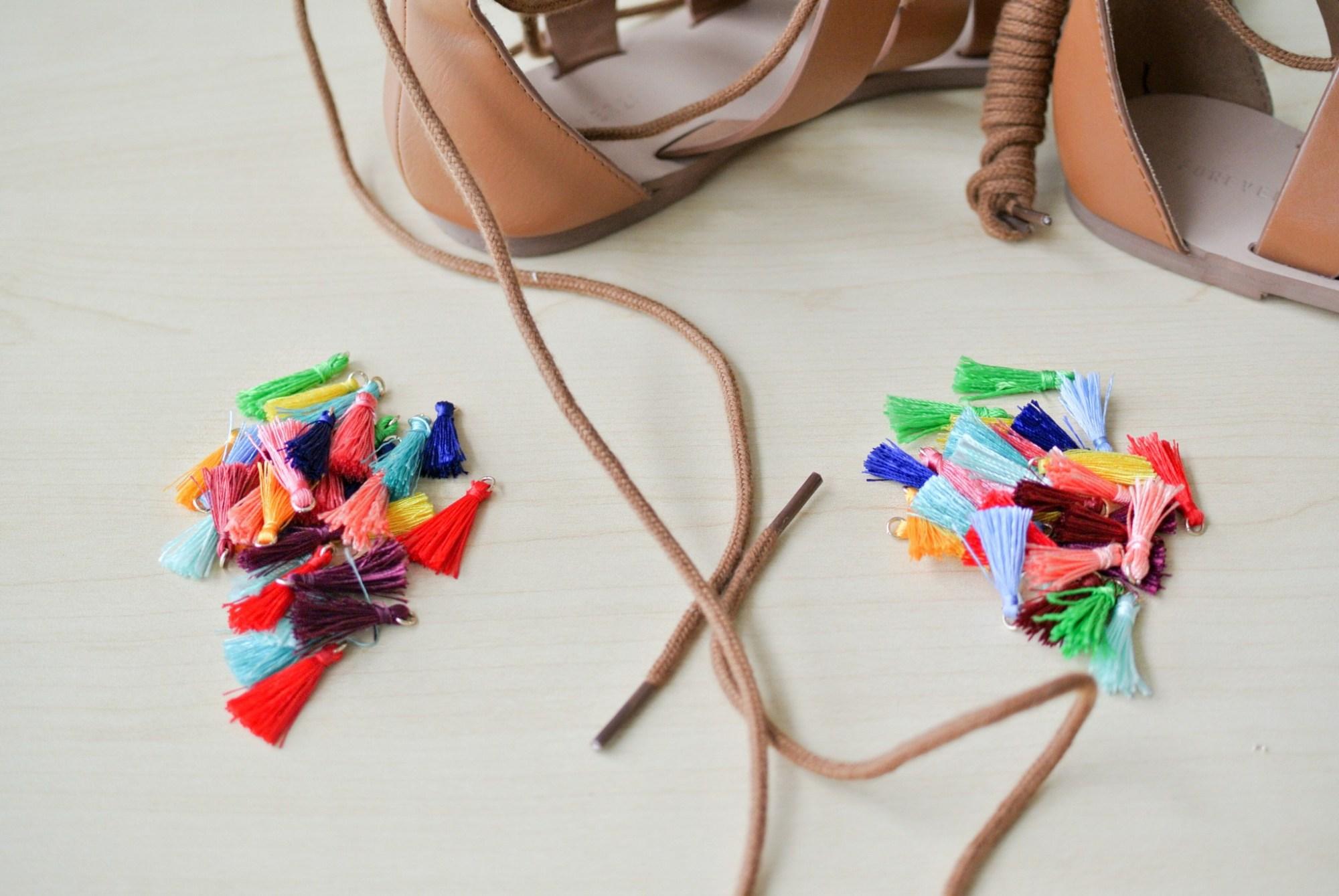 DIY Tassel Sandals 1