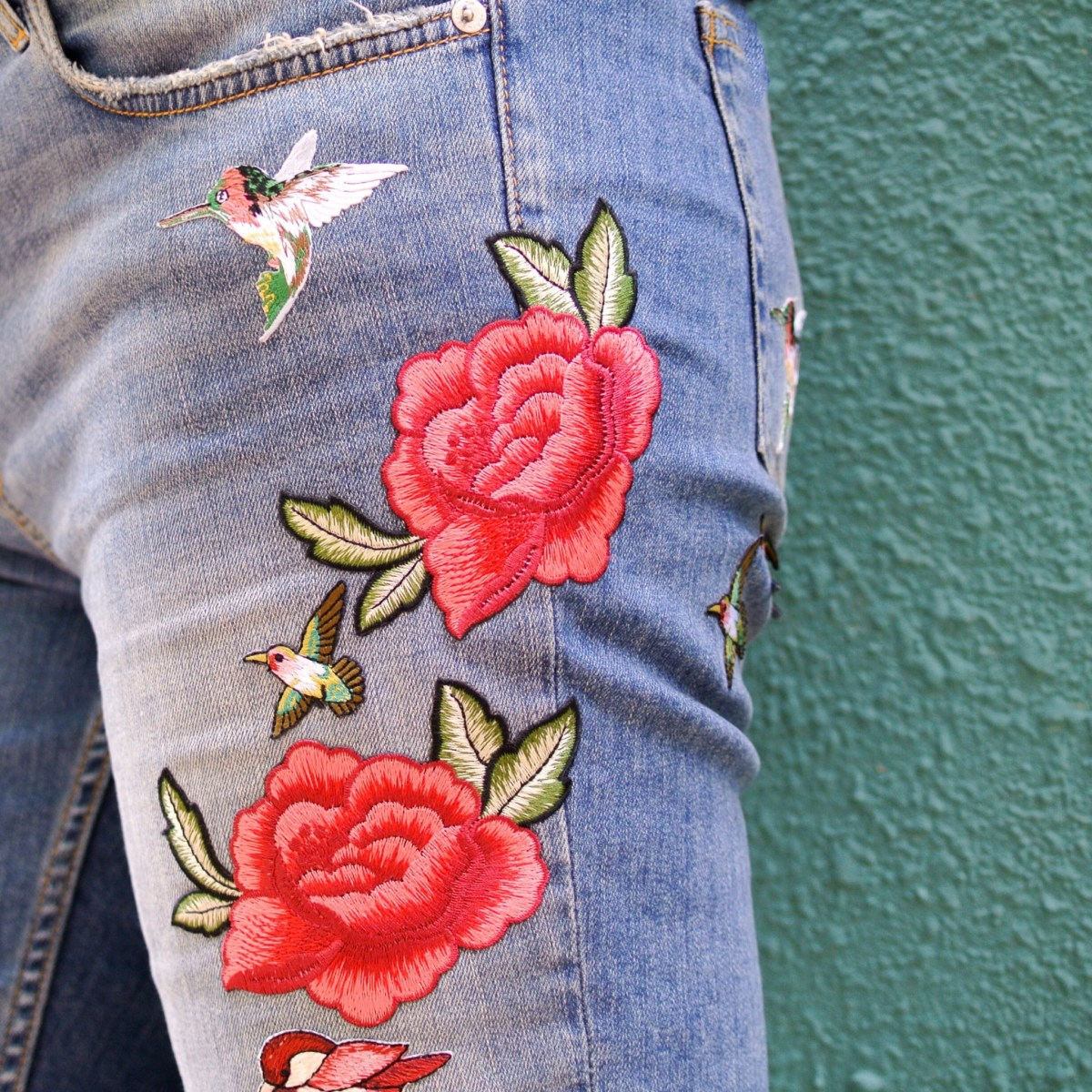 I had to have these Embroidered Jeans!