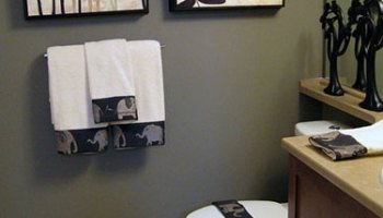 Easy Bathroom Decor Ideas easy home decorating ideas 2017 - grasscloth wallpaper