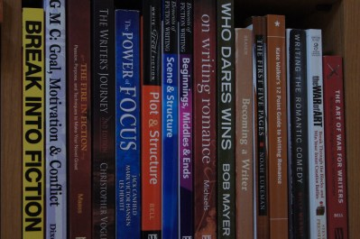 Writing Advice: Photo of some of my craft of writing books.