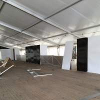 Sabaton Open Air Bar area is taking shape.