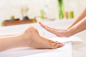 Reiki treatment can be performed without every touching the patient
