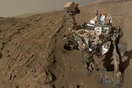 Over foto's van Mars en een selfie van Curiosity