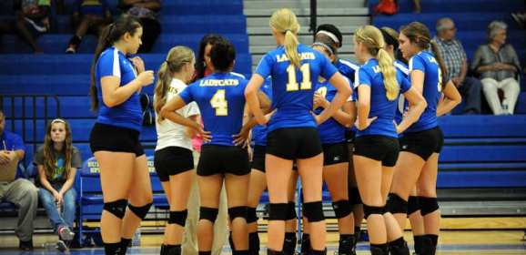 Lady Cats' Volleyball Team lost 3-0 to Hallsville Friday