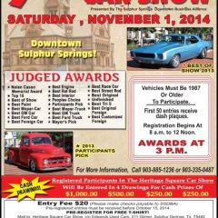 9th Annual Heritage Square Car Show, Nov. 1st