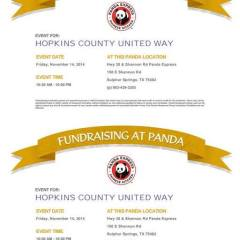 Panda Express United Way Give back