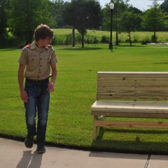 Eagle Scout Donates Benches to Hopkins County Memorial Hospital & Clinic
