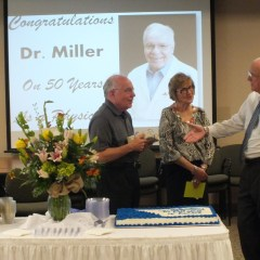 Dr. Miller Celebrates 50 Years as Licensed Physician