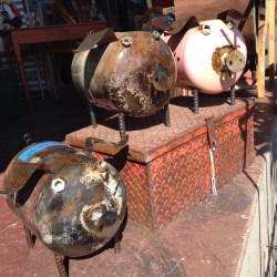 Admirable Fences Metal Yard Art Dogs Metal Ground Pig Yard Upcycled Metal Ground Pig Yard Art Kudzu S Metal Yard Art houzz-03 Metal Yard Art