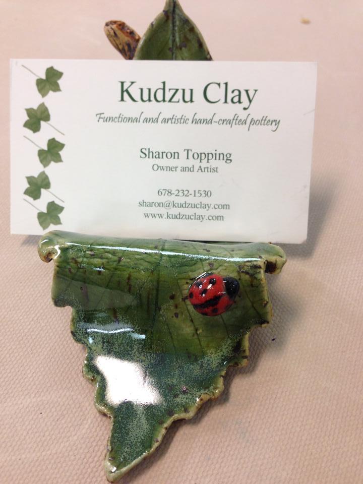 Business Card Holder   Kudzu Clay