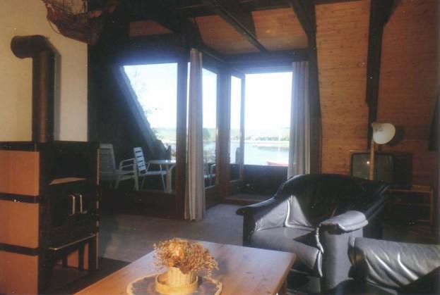 Wohnbereich in der Ferienwohnung im Obergeschoss