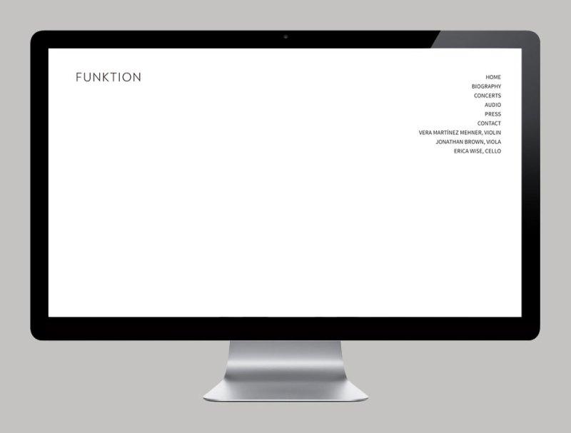 Diseño Web y logotipo por KUINI Estudio para Funktion